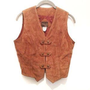 Vintage Western Boho 9/10  (4-6) Brown Suede Vest